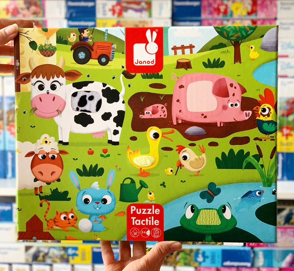 Janod - Farm Tactile Puzzle 20pc