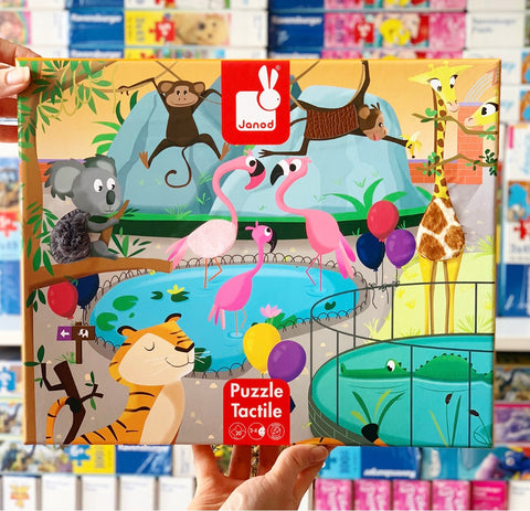 Janod - Tactile Puzzle Zoo 20pc