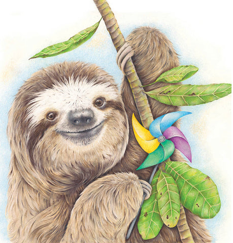 'Party' Sloth - fine art print