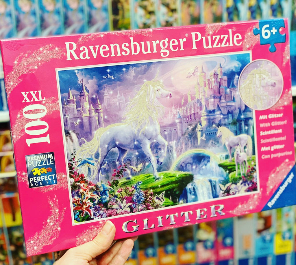 Unicorn Kingdom Puzzle GLITTER 100 pieces