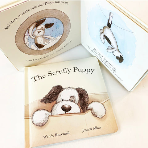 Jellycat Scruffy Puppy Book