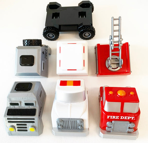 Magnetic Build-A-Truck Fire and Rescure