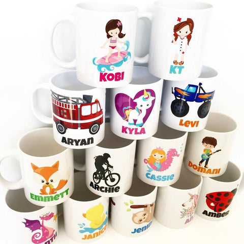 Personalised Mugs - plastic or ceramic -LOTS MORE IMAGES