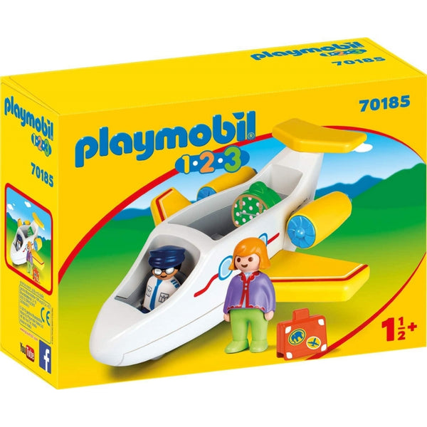 Playmobil - 1 2 3 Plane with Passenger