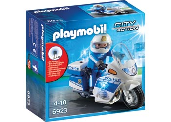Playmobil – Police Bike with LED Light