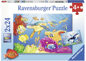 Ravensburger - Vibrance Under the Sea 2x24pc