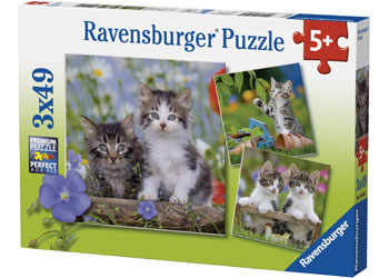 Ravensburger - Tiger Kittens Puzzle 3x49pc