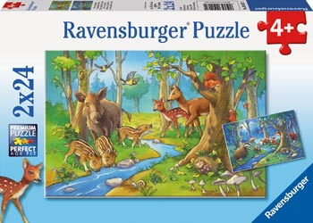 Cute Forest Animals Puzzle 2 x 24pc