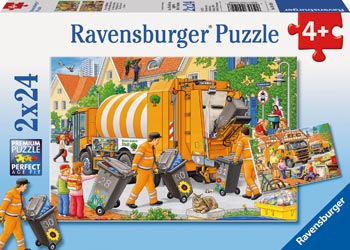 Rburg - Trash Removal Puzzle 2x24pc
