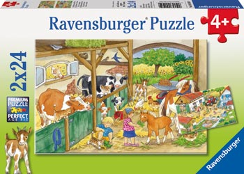 A day at the farm 2x24 pc puzzle