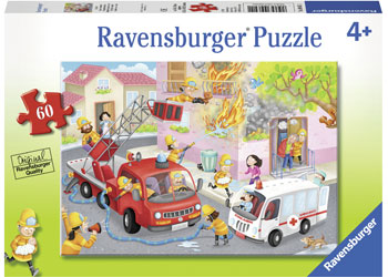 Ravensburger - Firefighter Rescue! Puzzle 60pc