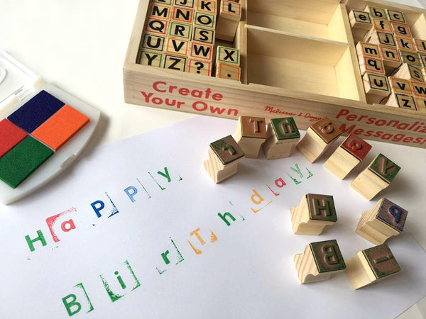 Melissa & Doug Wooden Alphabet Stamp Set