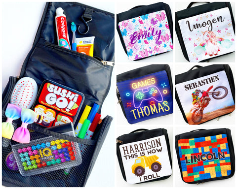 PERSONALISED MINI TRAVEL BAGS (Toiletry/Games)