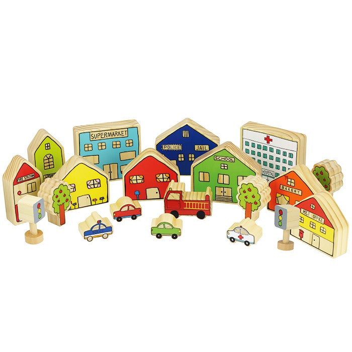 Village Blocks Set of 20