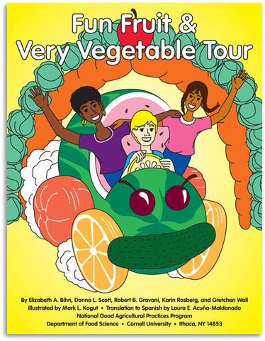 Fun Fruit & Very Vegetable Tour Coloring Book