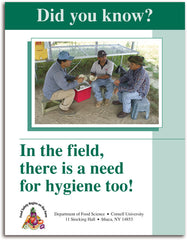 Did you know? In the Field there is a need for hygiene too!