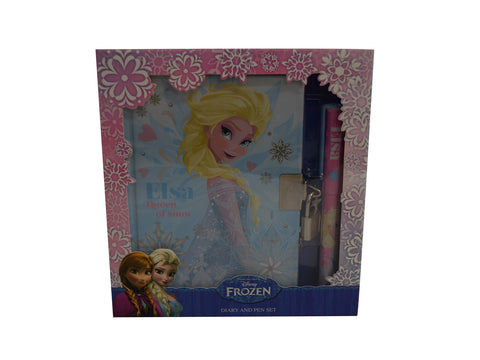 Frozen - Elsa Glitter Diary and Pen Gift Set