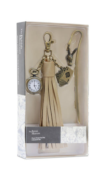 British Museum Alice Tassel Mobile Charger, Keyring & Bookmark