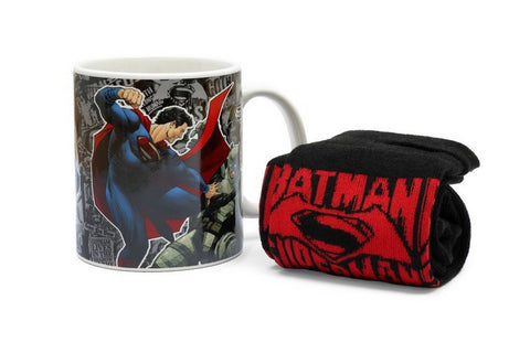 DC Comics DOJ World's Finest Mug & Sock Set