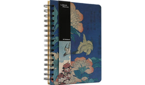 "British Museum Hokusai ""Herbaceous Peony & Canary"" A5 Spiral Notebook"