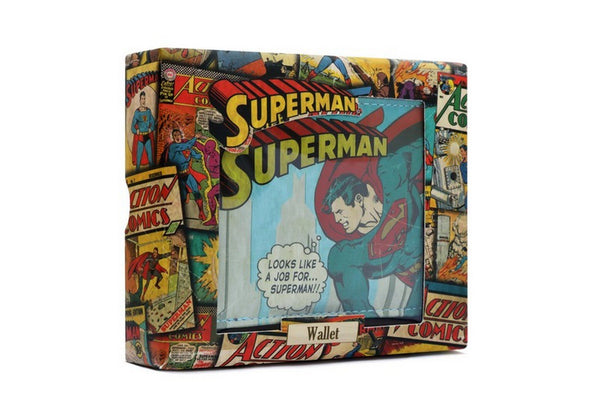 DC Comics Vintage Superman Wallet in a gift box