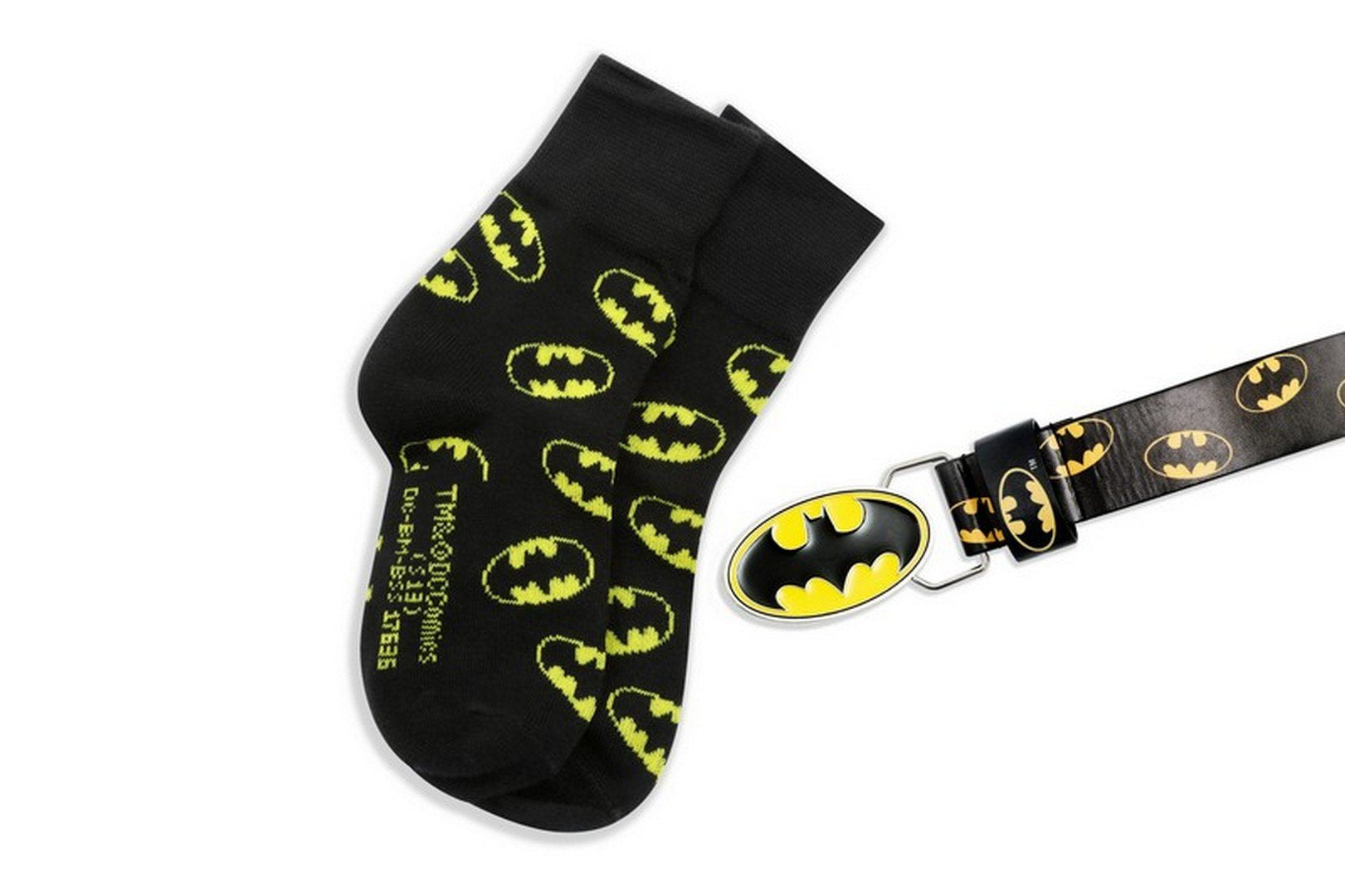 DC Comics Batman Belt & Sock Set 3-6yrs/7-12yrs