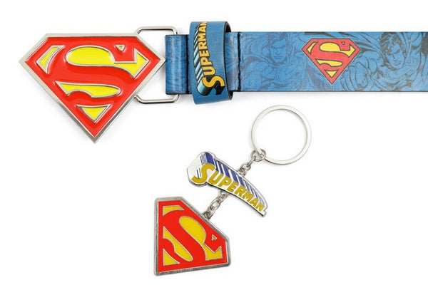 DC Comics Superman Belt & Key Ring Set 3-6yrs/7-12yrs