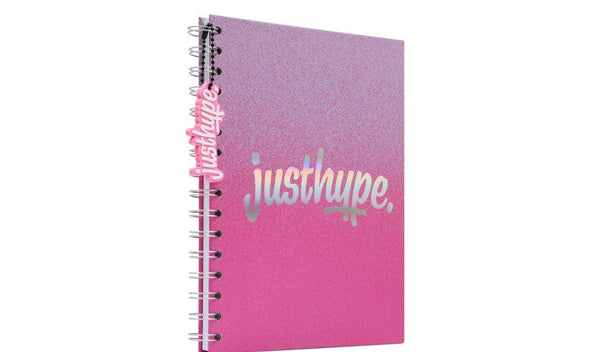 Hype Pink Graduated A5 notebook with rubber charm