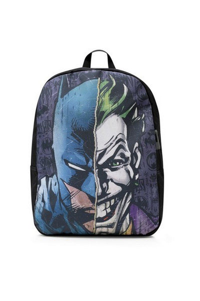 DC Comics Batman/Joker Split Printed Backpack