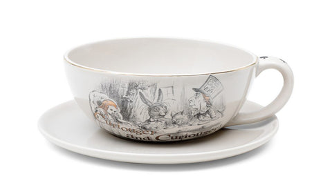 British Museum Alice Tea Cup Planter with Saucer
