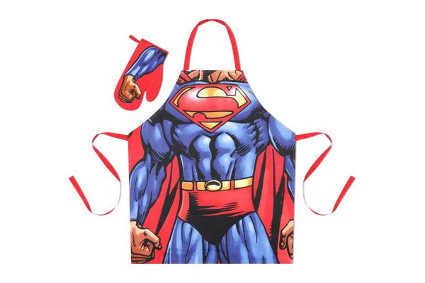 DC Comics Superman Apron & Glove BBQ Set
