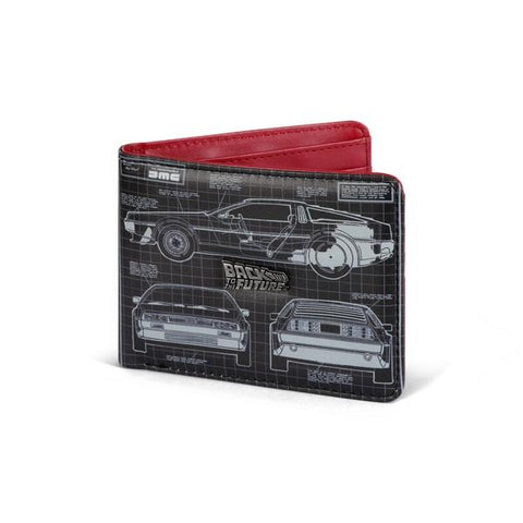 Back to The Future Blueprint Wallet with Metal Logo