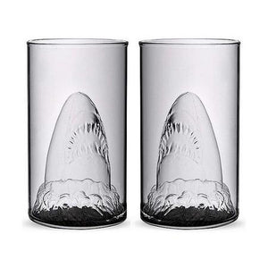 Jaws Shark Glass