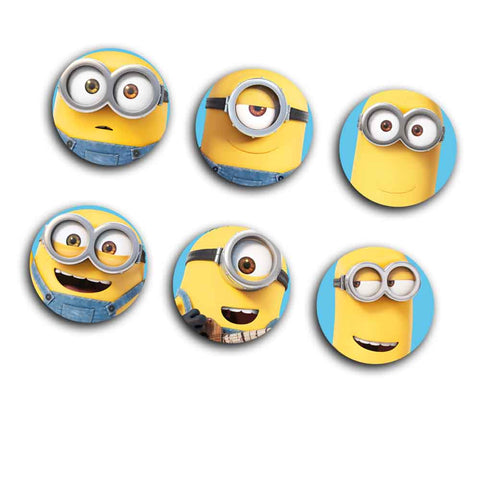 Minions Phone Button Charms- Close Up Face