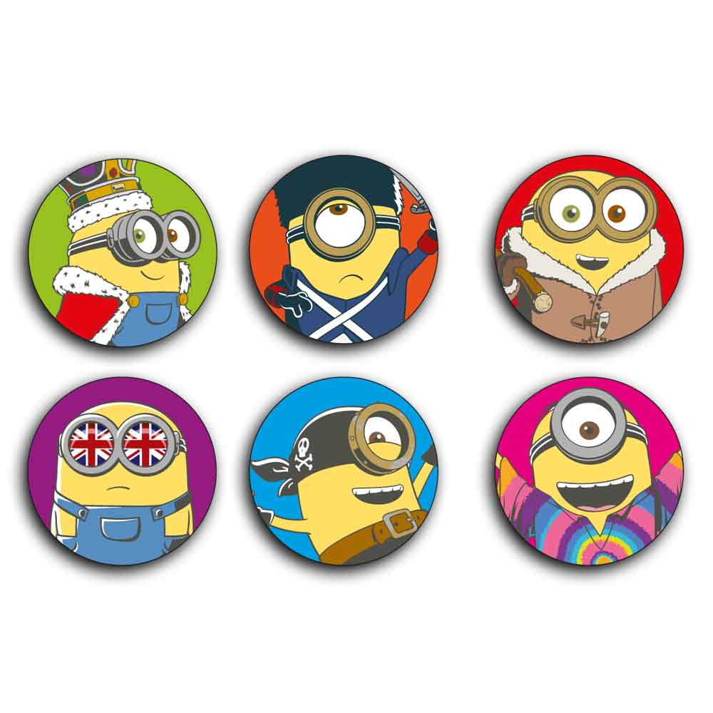 Minions Phone Button Charms Mixed Theme