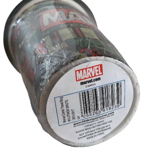 Marvel Comic Ceramic Travel Mug