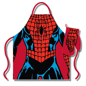 Marvel Spiderman Apron & Oven Glove Set