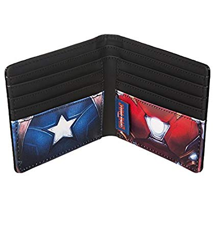 Marvel Iron Man/Captain America Embossed Wallet