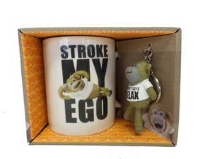 Monkey Mug & Key Ring Set