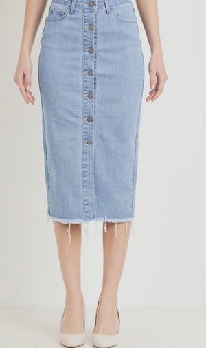 Eliza Denim Midi Skirt