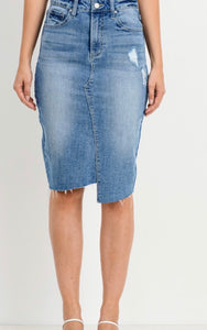 Henly Denim Skirt - *RESTOCKED*