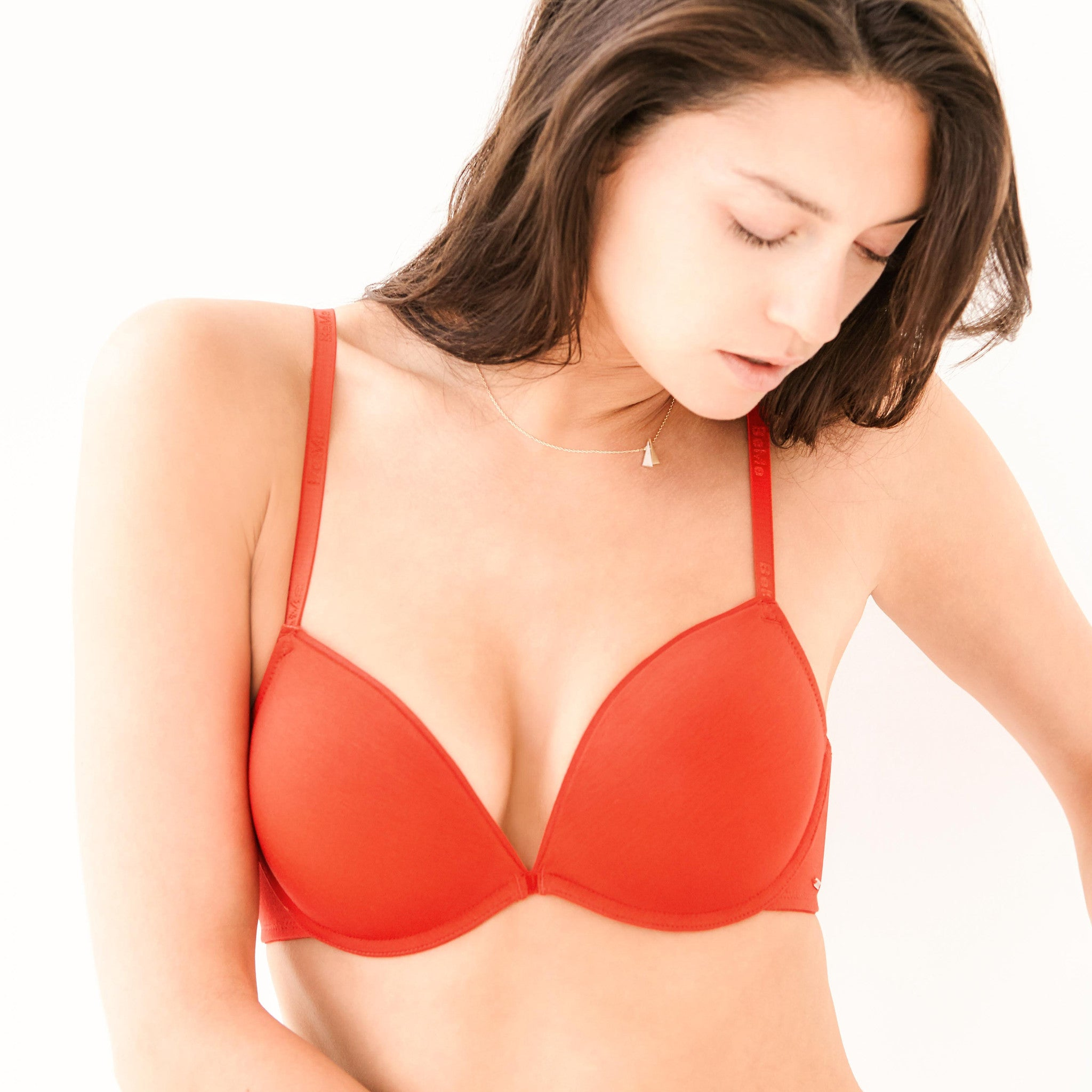 Basic Plunge Light Push Up Bra - BeMe NYC