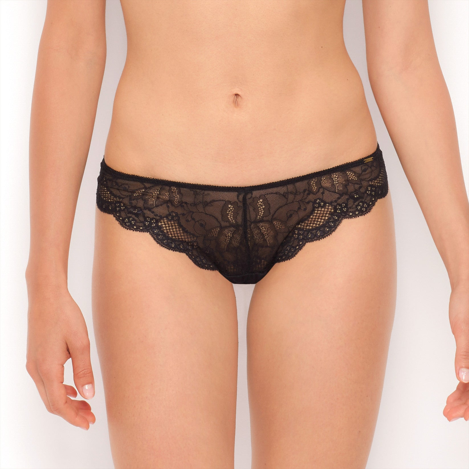 Rough & Tumble Lace Front Thong - BeMe NYC