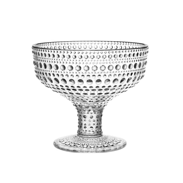 Iittala Kastehelmi Clear Footed Bowl