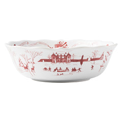 Juliska Country Estate Winter Frolic Ruby 10'' Serving Bowl