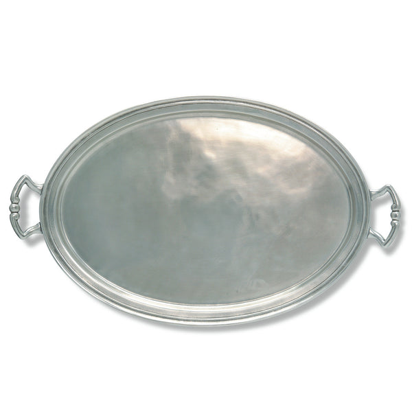 Match Oval Tray W/Handles