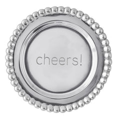"Mariposa Brillante Beaded ""Cheers"" Wine Plate"