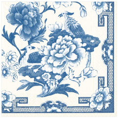 Caspari Blue & White Motifs Dinner Napkins