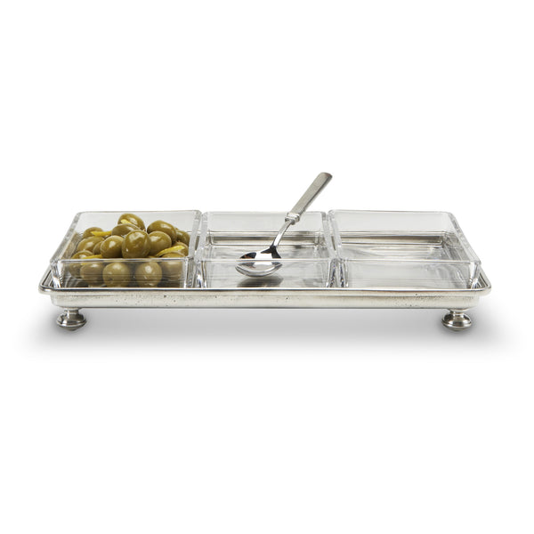 Match Footed Crudite Tray