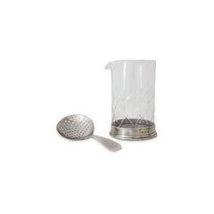 Match Mixing Glass & Cocktail Strainer Set